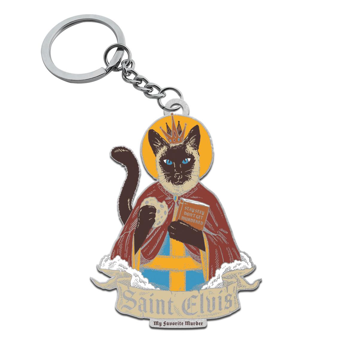St Elvis Keychain