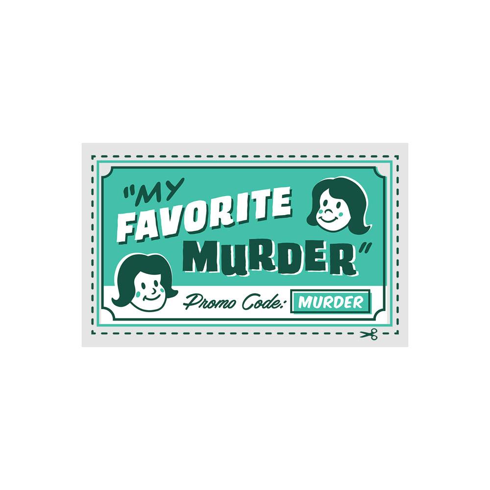 Promo Code Murder Clear Sticker
