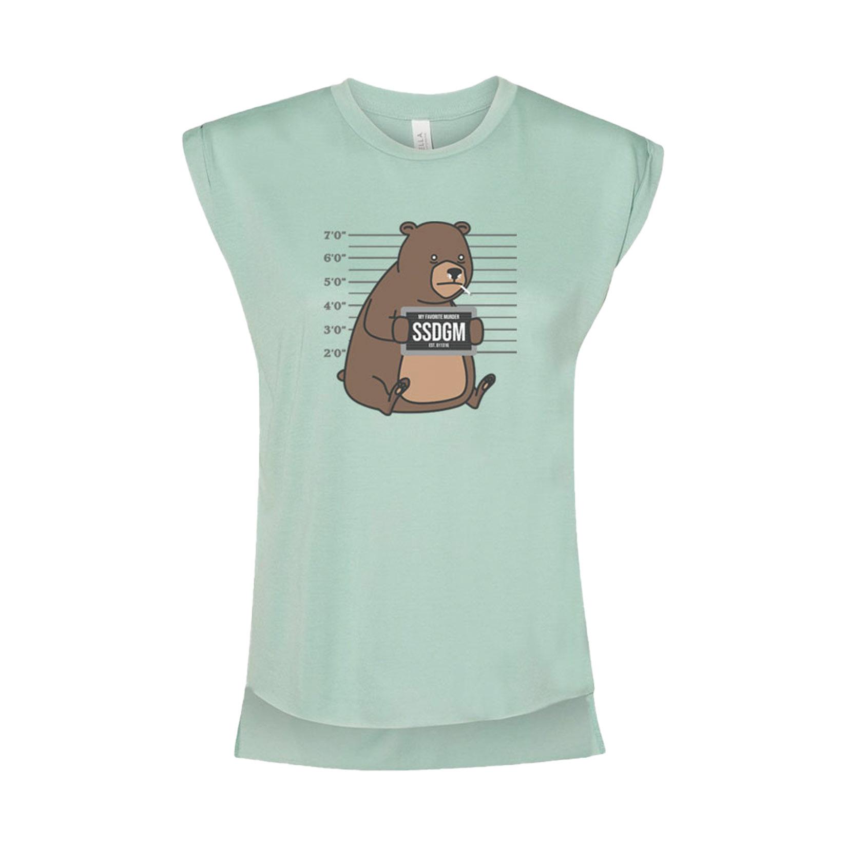 Cocaine Bear Ladies Muscle Tee