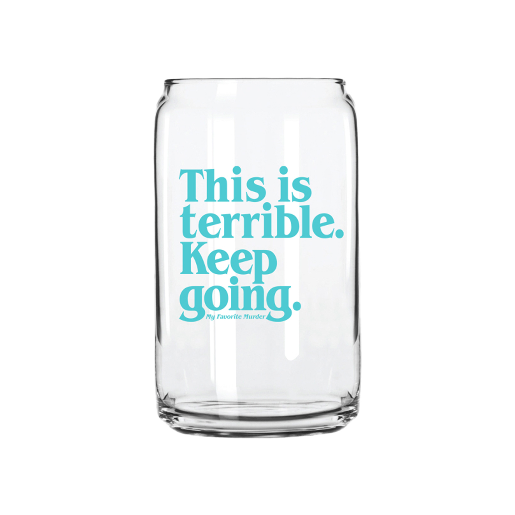 Keep Going Can Pint Glass