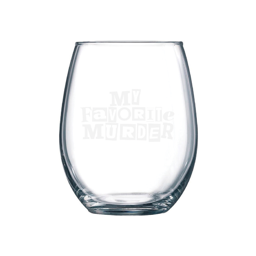 MFM Logo Stemless Wine Glass