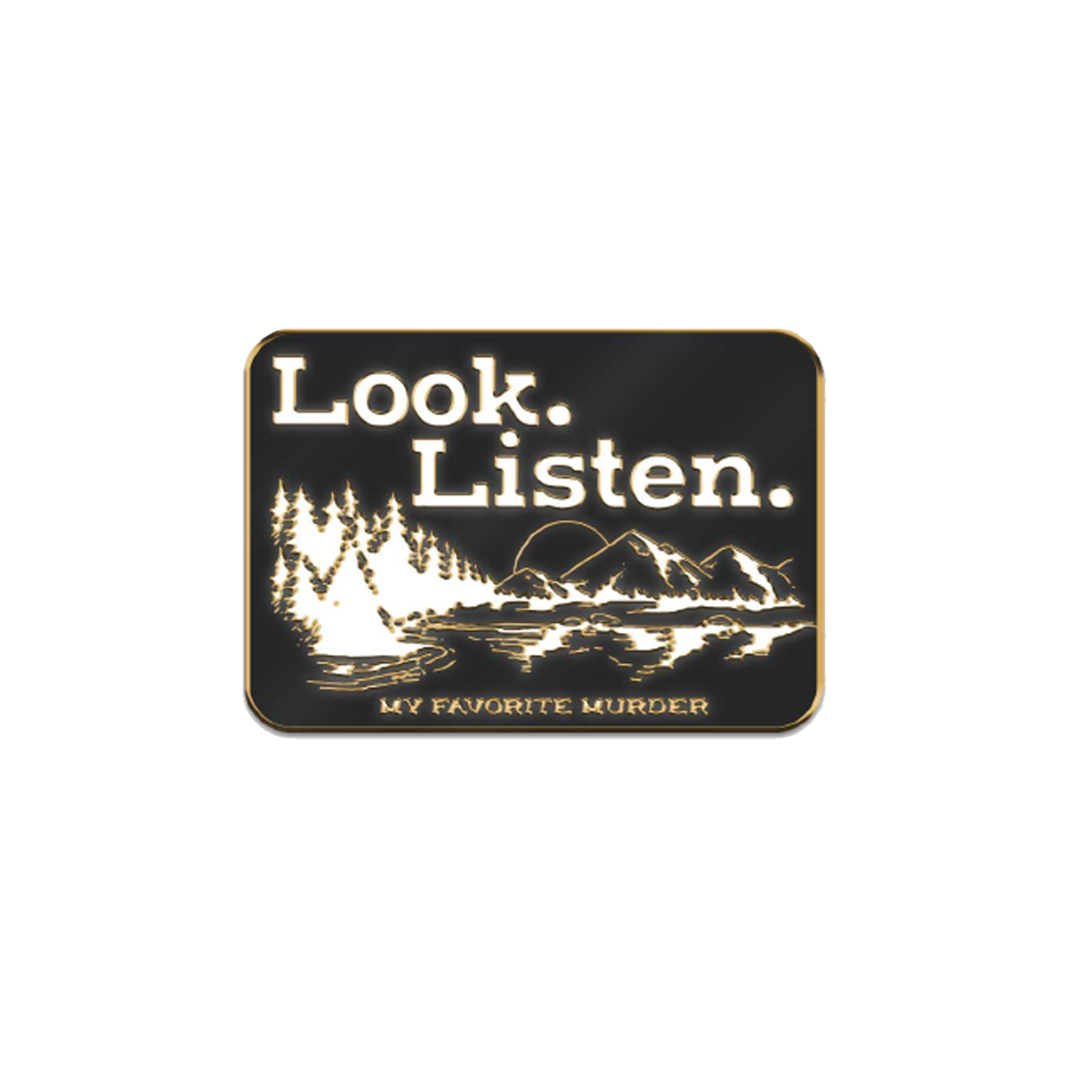 Look Listen Enamel Pin