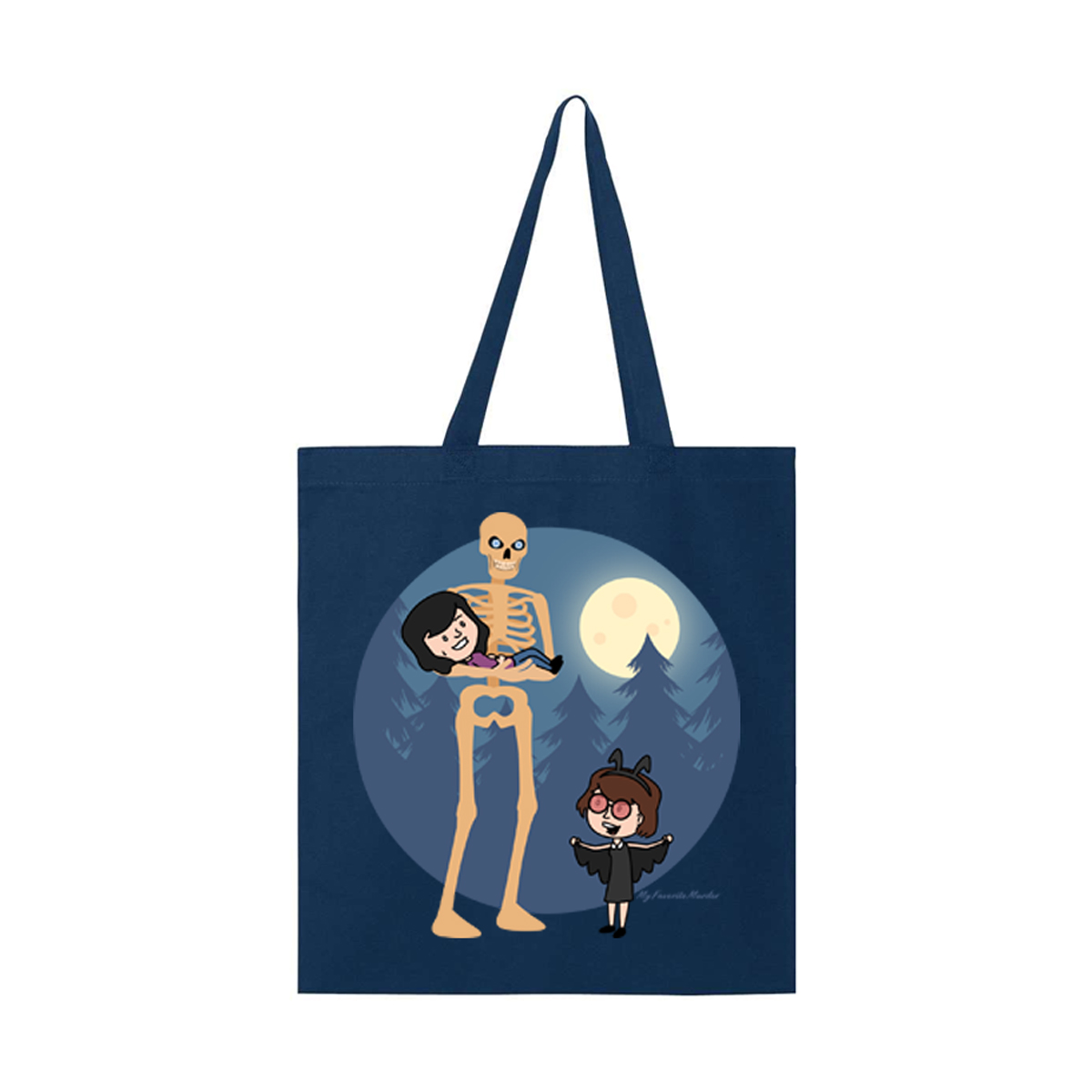 Skeleton Mothman Tote