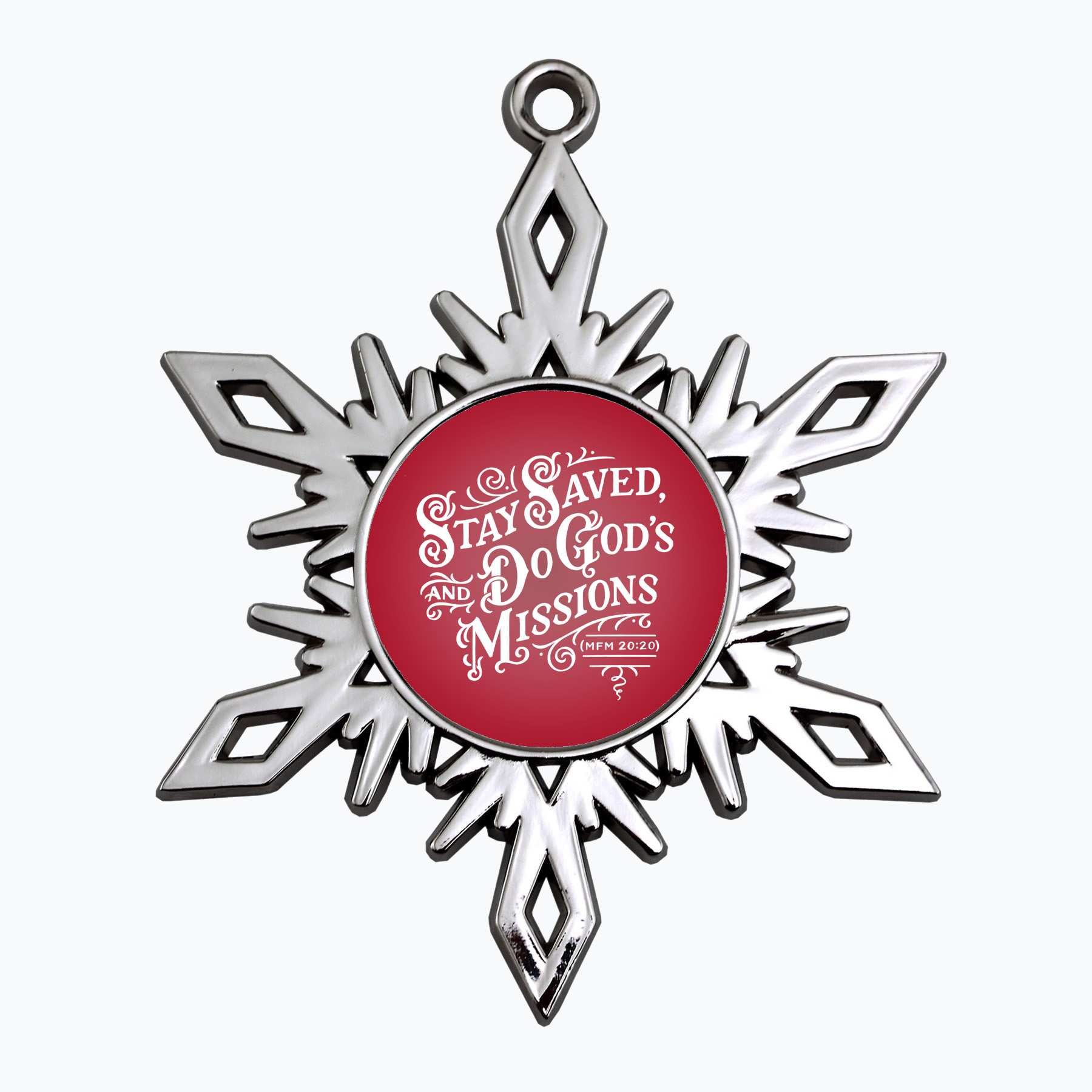 Stay Saved Snowflake Ornament